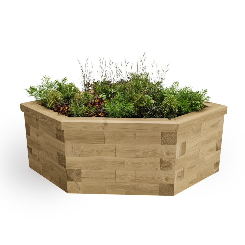 Corner Raised Bed 45 Degree / Length x Width x Height - 1125 x 1125 x 550 mm