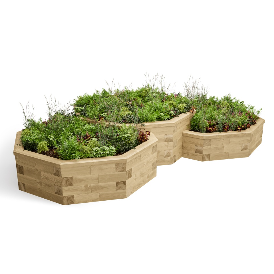 Large Octagonal Muti Level Raised Bed