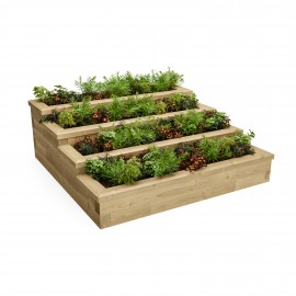 Stepped Herb Garden Schematic 3D