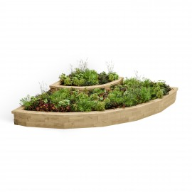 Cascading Curved Corner Raised Bed 035